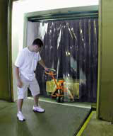 SAVE-T® Truck Strip Doors and Curtains & Warehouse Rolling Steel Cold Storage Sectional Manual Electric